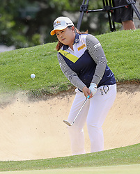 April 13, 2018 - Kapolei, HI, U.S. - KAPOLEI, HI - APRIL 13: Inbee park of South Korea hits out of the bunker on the 8th hole during the third round of the LPGA Tour LOTTE Championship at the Ko Olina Golf Club, Friday, April 13, 2018, in Kapolei, HI. (Photo by Darryl Oumi/Icon Sportswire) (Credit Image: © Darryl Oumi/Icon SMI via ZUMA Press)