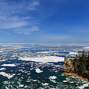 """Icebergs at Miner's Castle""<br />