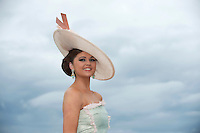 01/08/2013   Jennifer Wrynne at the Anthony Ryan's Best Dressed on Ladies day at the Galway Races . Picture:Andrew Downes