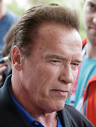 23.03.2017, Sporthotel Royer, Schladming, AUT, Special Olympics 2017, Wintergames, Arnold Schwarzenegger besucht die Spiele, im Bild Arnold Schwarzenegger, ernst // during the Special Olympics World Winter Games Austria 2017 in Schladming, Austria on 2017/03/23. EXPA Pictures © 2017, PhotoCredit: EXPA / Martin Huber