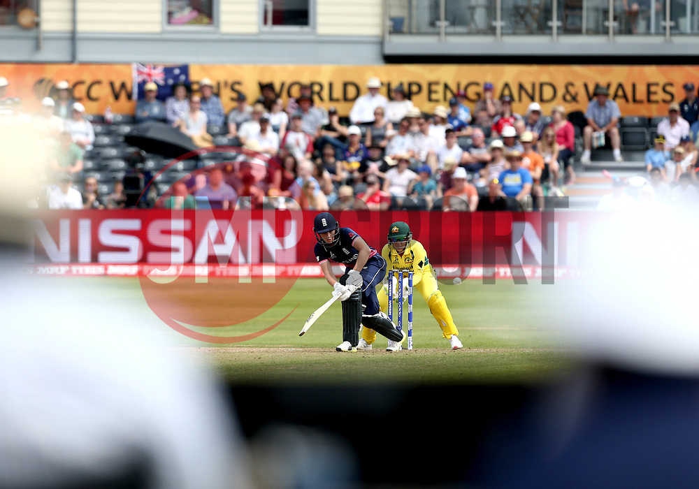 Natalie Sciver of England Women bats against Australia Women at Bristol - Mandatory by-line: Robbie Stephenson/JMP - 09/07/2017 - CRICKET - Bristol County Ground - Bristol, United Kingdom - England v Australia - ICC Women's World Cup match 19