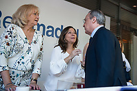 Florentino Perez approaches the position of the Red Cross Fundraising day event (dia de la banderita) at Santiago Bernabeu Stadium in Madrid, October 02 2015.<br /> (ALTERPHOTOS/BorjaB.Hojas)