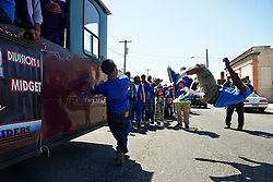 Family, friends and members of the community came out to join team members of NorthWest Raiders in a parade celebrating them winning the 2014 Pop Warner SuperBowl Midget Division. (©2015, All Rights reserved - Bastiaan Slabbers/BasSlabbers.com)