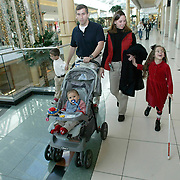ANNABELLE -- detroit, nov. 6 -- The Costanzo family spent the afternoon Thursday at a mall in Troy, Michigan.  The following morning daughter Annabelle, who is blind, will have eye surgery.  From left, Nicholas, 6, Sam, 8 months, Nick, Gina and Annabelle, 7.  photo by david peterson