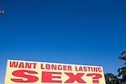 "According to the Sydney Morning Herald (June 28,2008) the number of billboards asking Australian commuters if they want longer lasting sex is to be increased, ignoring heavy hints from the advertising industry watchdog to take them down.<br /> A day after a Senate committee recommended measures to combat the proliferation of sexual images in the media, it was announced that one of the most complained about ads would become more common.The chief executive officer of Advanced Medical Institute, Jack Vaisman, yesterday said: ""If they change the rules, we will comply. But they have not changed them, so we will continue.""<br /> Far from taking them down, as the Advertising Standards Bureau indicated to the Herald that it wanted, Mr Vaisman said: ""We want to get as many as possible. They are very effective."" The billboards triggered 1000 calls a day from men seeking help with erectile dysfunction, he said."