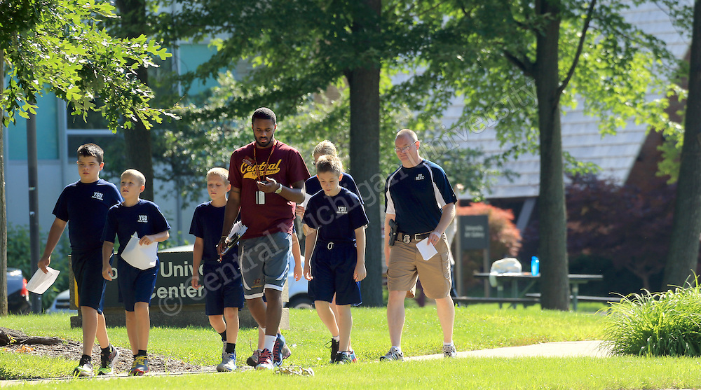 YSU campers walk on the Central Michigan University campus. Photo shot on Monday July 14, 2014. Central Michigan University Photo by Steve Jessmore