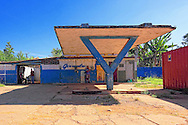 Abandoned gas station in Quivican, Mayabeque, Cuba.
