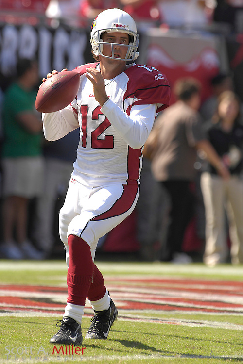 Nov. 4, 2007; Tampa, FL, USA;  Arizona Cardinals  quarterback (12) Tim Rattay during the Cardinals 17-10 loss to the Tampa Bay Buccaneers at Raymond James Stadium. ...©2007 Scott A. Miller