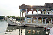 China, Beijing, Summer Palace built by Empress Cixi The Marble Boat at dusk