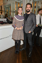 LAURA JACKSON and JACK GUINNESS at the launch of the Space NK Global Flagship store at 285-287 Regent Street, London on 10th November 2016.
