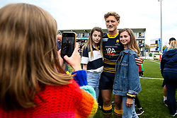 Tom Howe of Worcester Warriors meets fans - Mandatory by-line: Robbie Stephenson/JMP - 18/05/2019 - RUGBY - Sixways Stadium - Worcester, England - Worcester Warriors v Saracens - Gallagher Premiership Rugby