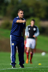 Bristol City U18 Manager Carlos Anton looks on - Photo mandatory by-line: Rogan Thomson/JMP - Tel: 07966 386802 - 05/10/2013 - SPORT - FOOTBALL - SGS Wise Campus, Bristol - Bristol City U18 v Brighton & Hove Albion U18 - U18 Professional Development League 2.