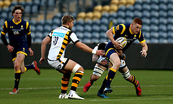 Connor Braid of Worcester Cavaliers is tackled - Mandatory by-line: Robbie Stephenson/JMP - 03/04/2017 - RUGBY - Sixways Stadium - Worcester, England - Worcester Cavaliers v Wasps A - Aviva A League