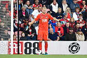 Aaron Ramsdale (12) of AFC Bournemouth during the Premier League match between Bournemouth and Norwich City at the Vitality Stadium, Bournemouth, England on 19 October 2019.