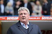 Hull City manager Steve Bruce  during the Sky Bet Championship match between Huddersfield Town and Hull City at the John Smiths Stadium, Huddersfield, England on 9 April 2016. Photo by Simon Davies.