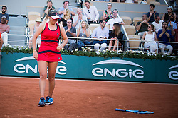 Sofia Kenin in action during French Tennis Open at Roland-Garros arena on June 01, 2019 in Paris, France. Photo by Nasser Berzane/ABACAPRESS.COM