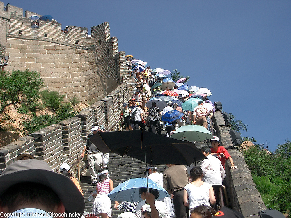 The ascent to the Hero Point, Great Wall, Badaling, Summer