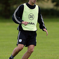 St Johnstone training...12.07.04<br />Mark Robinson<br /><br />Picture by Graeme Hart.<br />Copyright Perthshire Picture Agency<br />Tel: 01738 623350  Mobile: 07990 594431