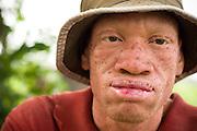Theophilus Amuzu, 28, on his farm near Amasaman, Ghana on Thursday January 17, 2008.