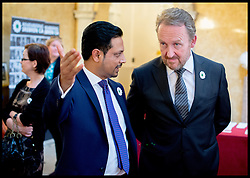 Image ©Licensed to i-Images Picture Agency. 08/07/2014. London, United Kingdom. President Bkair Izetbegovic (right) and Dr Waqar attend the Srebrenica Memorial Reception at Lancaster House. Picture by Andrew Parsons / i-Images