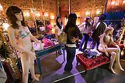 Dongdaemun Market. Cherry Zone fashion at Doosan Tower. Sexy underwear.