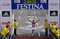 Friidrett<br /> 30.09.2007<br /> Foto: imago/Digitalsport<br /> NORWAY ONLY<br /> <br /> Haile Gebrselassie (Äthiopien) gewinnt den Berlin Marathon 2007 in neuer Weltrekordzeit von 2 Stunden vier Minuten und 26 Sekunden