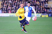 Oxford United Midfielder Kemar Roofe  during the The FA Cup Fourth Round match between Oxford United and Blackburn Rovers at the Kassam Stadium, Oxford, England on 30 January 2016. Photo by Dennis Goodwin.