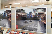 Daitokuji Daseiin garden Kyoto tourism advertising display at train station in Japan