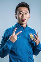 Portrait of Chinese soccer player Gu Wenxiang of Jiangsu Suning F.C. for the 2017 Chinese Football Association Super League, in Nanjing city, east China's Jiangsu province, 27 February 2017.