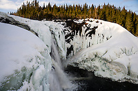 Sweden, Åre. Tännforsen is the highest waterfall in Sweden.