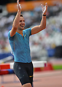 French pole vaulter during the Sainsbury's Anniversary Games at the Queen Elizabeth II Olympic Park, London, United Kingdom Renaud Lavillenie 25 July 2015. Photo by Mark Davies.