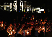 Fans turn out for the candle light vigil at Graceland in Memphis, Tennessee that marks the 41st anniversary of the death of Elvis Presley.