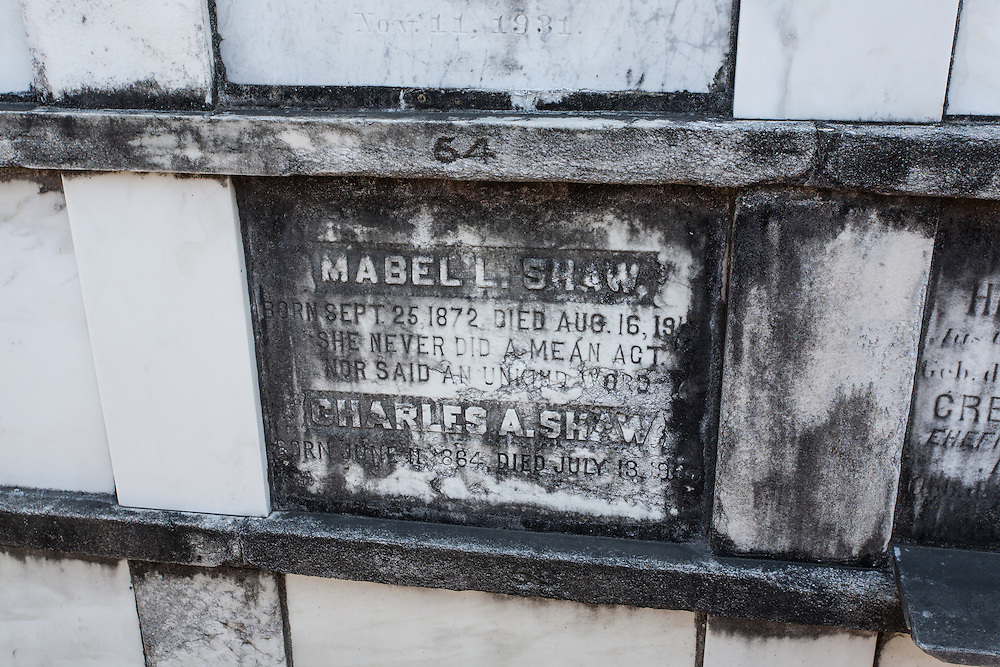A tomb in the Lafayette Cemetery No. 1, Garden District, New Orleans, Louisiana