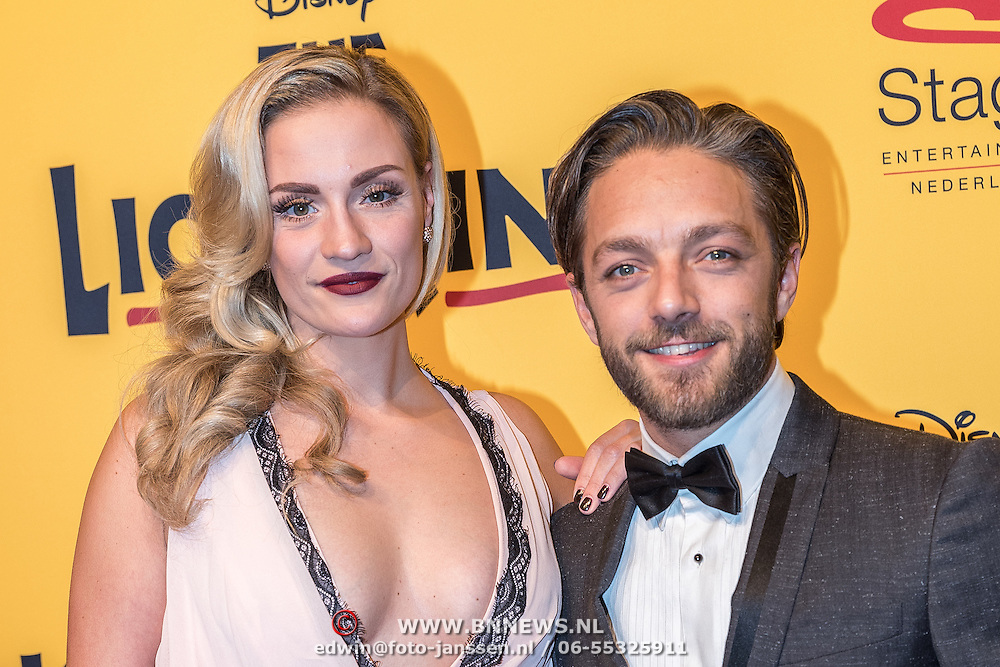 NLD/Scheveningen/20161030 - Premiere musical The Lion King, Michelle Splietelhof en partner Tommie Christiaan