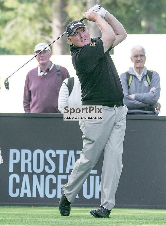 Ronan RAFFERTY (IReland) tees off at the first hole.  Prostate Cancer UK Scottish Senior Open, 28th August 2015