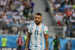 June 26, 2018 - St. Petersburg, Russia - June 26, 2018, Russia, St. Petersburg, FIFA World Cup 2018, First round, Group D, Third round. Football match of Nigeria - Argentina at the stadium of St. Petersburg. Player of the national team Nicholas Otamendi. (Credit Image: © Russian Look via ZUMA Wire)