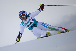 09.12.2012, Engiadina Rennstrecke, St. Moritz, SUI, FIS Ski Alpin Weltcup, Riesenslalom, Damen, 1. Lauf, im Bild Denise Karbon (ITA) // in action during 1st run of ladies Giant Slalom of FIS ski alpine world cup at the Engiadina course, St. Moritz, Switzerland on 2012/12/09. EXPA Pictures © 2012, PhotoCredit: EXPA/ Freshfocus/ Andreas Meier..***** ATTENTION - for AUT, SLO, CRO, SRB, BIH only *****