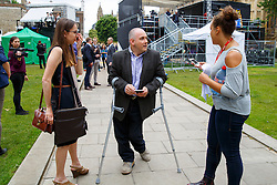 © Licensed to London News Pictures. 26/06/2016. London, UK. Minister without portfolio ROBERT HALFON gives TV interviews in College Green outside the Parliament in London for TV interviews on 26 June 2016. Photo credit: Tolga Akmen/LNP