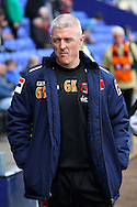 Carlisle United&rsquo;s Manager Graham Kavanagh prior to the game. Skybet football league 1 match, Tranmere Rovers v Carlisle United at Prenton Park in Birkenhead, England on Saturday 29th March 2014.<br /> pic by Chris Stading, Andrew Orchard sports photography.