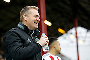 Brentford Manager / Head Coach Dean Smith during the EFL Sky Bet Championship match between Brentford and Rotherham United at Griffin Park, London, England on 25 February 2017. Photo by Andy Walter.