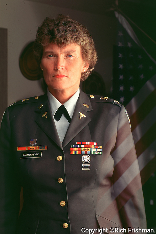 Portrait of Colonel Margarethe Cammermeyer, who was forced to retire from the US Army after admitting that she was gay..©Rich Frishman.