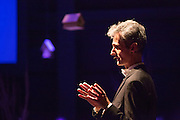 """Brooklyn, NY - 18 October 2014. Pablo Helguera's performance piece """"Parable Conference,"""" part of the 2014 Next Wave Festival at the Brooklyn Academy of Music."""