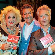 NLD/Amsterdam/20120911- Presentatie DVDbox 125 jaar Carre, Karin Bloemen, Frank Sanders en partner