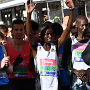 Daniel Wanjuri at the race start men and women at The Vitality Big Half 2019 on 10 March 2019, London, UK.