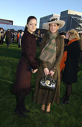Left to right, LADY ELOISE ANSON and LADY GABRIELLA WINDSOR at the 50th running of the Hennessy Gold Cup at Newbury Racecourse, Berkshire on 25th November 2006.<br /><br />NON EXCLUSIVE - WORLD RIGHTS