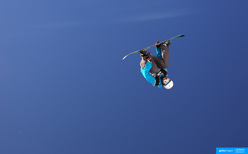 Liam Ryan, New Zealand, in action during the Snowboard Slopestyle Men's competition at Snow Park, New Zealand during the Winter Games. Wanaka, New Zealand, 21st August 2011. Photo Tim Clayton