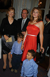 FLORA FRASER, SIR HAROLD PINTER, STELLA POWELL-JONES and SIMON & TOMMY SOROS at a party to celebrate the publication of 'Princesses' the six daughters of George 111 by Flora Fraser held at the Saville Club, Brook Street, London W1 on 14th September 2004.<br /><br />NON EXCLUSIVE - WORLD RIGHTS