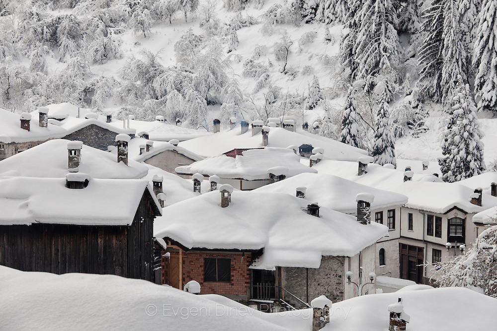 Village of Shiroka Laka in winter
