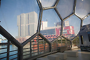 The Floating Pavilion experiment in sustainable architecture and Climate Proof Development, Rotterdam, Netherlands designed by Deltasync and PublicDomain Architects