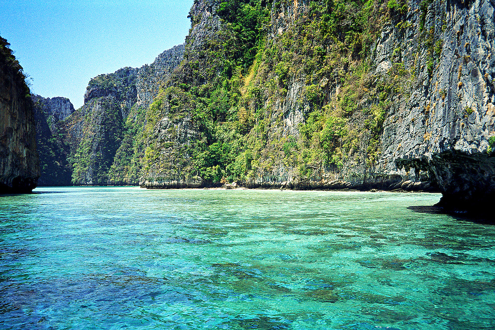 "This is the entrance to Maya Bay on Kho Phi Phi Ley.  This is where they filmed the movie, ""The Beach"""